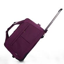 Rad Gepäck Metall Trolley Taschen frauen Reisetasche Hand Trolley Reisetasche Koffer Bord Chassis