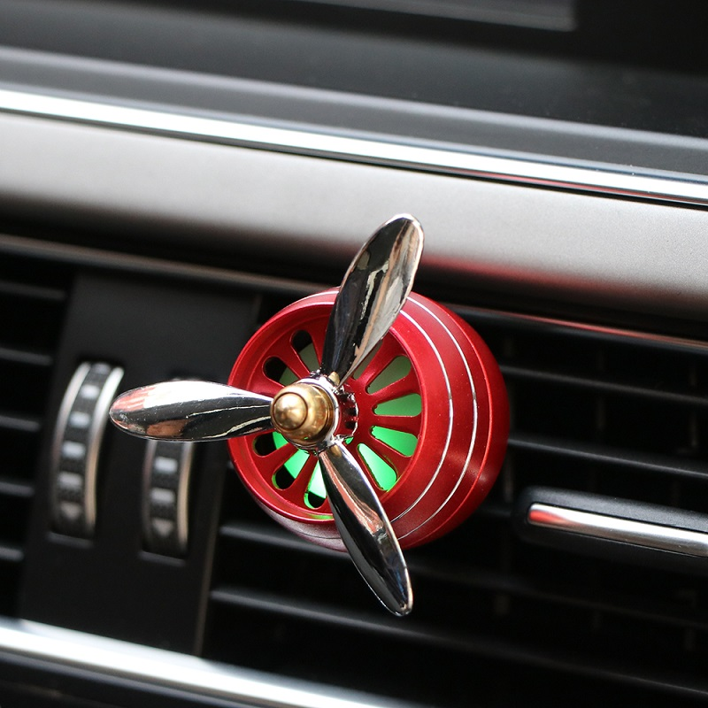 Propeller Air Freshener LED Mini Conditioning Vent Outlet Perfume Clip Fresh Aromatherapy Fragrance Accessories
