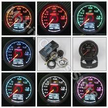 Люд* y манометр Вакуумный метр 7 светлый цветной ЖК-дисплей с напряжением автомобиля метр Манометр 62 мм 2,5 дюйма с датчиком гонок Greddi Калибр