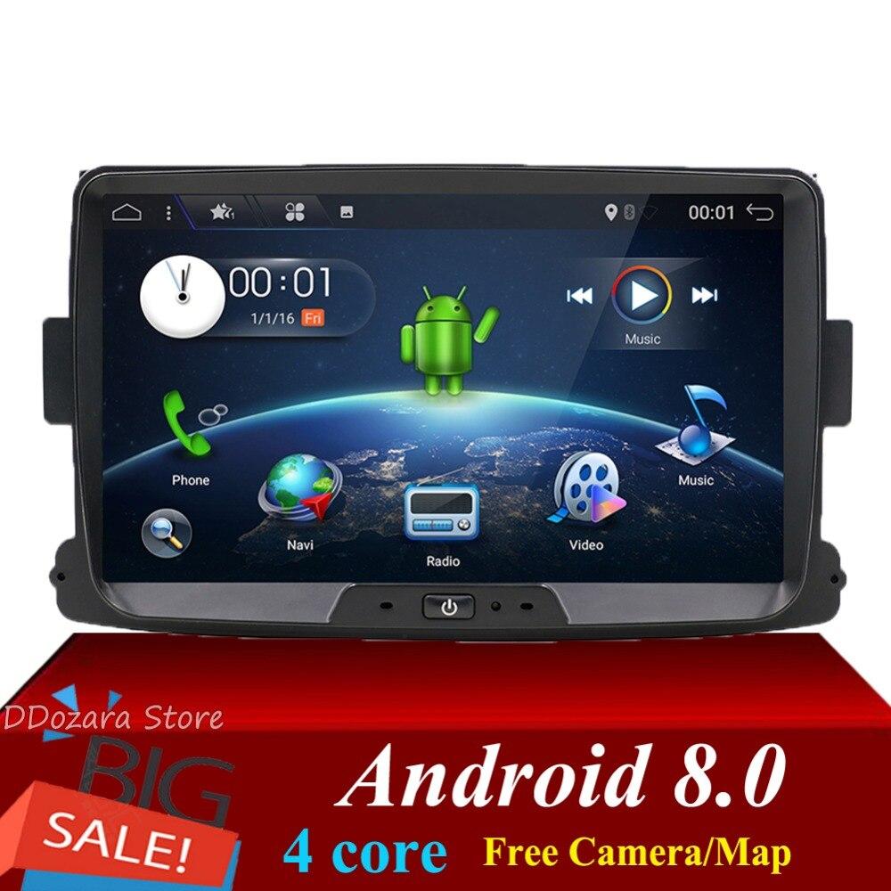 1 din pour Dacia/Xray/Lada/Duster/Sandero/Logan autoradio android 8.0 lecteur multimédia avec vue arrière caméra carte canbus SWC