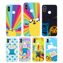 лучшая цена Silicone Phone Case Adventure Time Finn Jake Printing for Xiaomi Mi 6 8 9 SE A1 5X A2 6X Mix 3 Play F1 Pro 8 Lite Cover