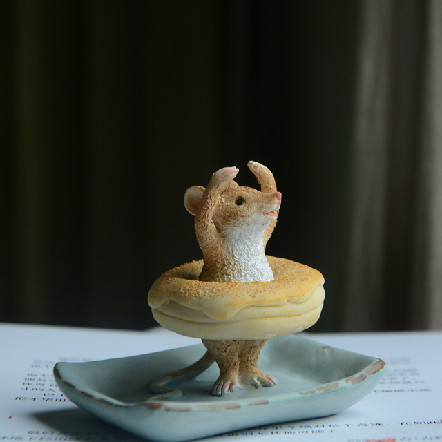 Cute Small Cat and Mice Resin Figurines for Home Decor Mouse Rat Ornaments Miniature Fairy Garden Animal Decoration Gril Gifts 3