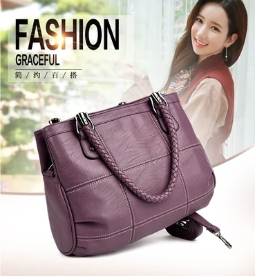 Women bag fashion casual high quality ladies handbag 2017 new style hot ladies bag shoulder leather bag yuanyu new 2017 hot new free shipping crocodile leather women handbag high end emale bag wipe the gold