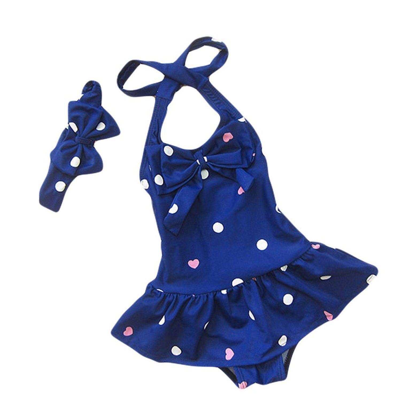 2PCS Kids Baby Girls Bikini Suit Swimsuit Swimwear Bathing suit