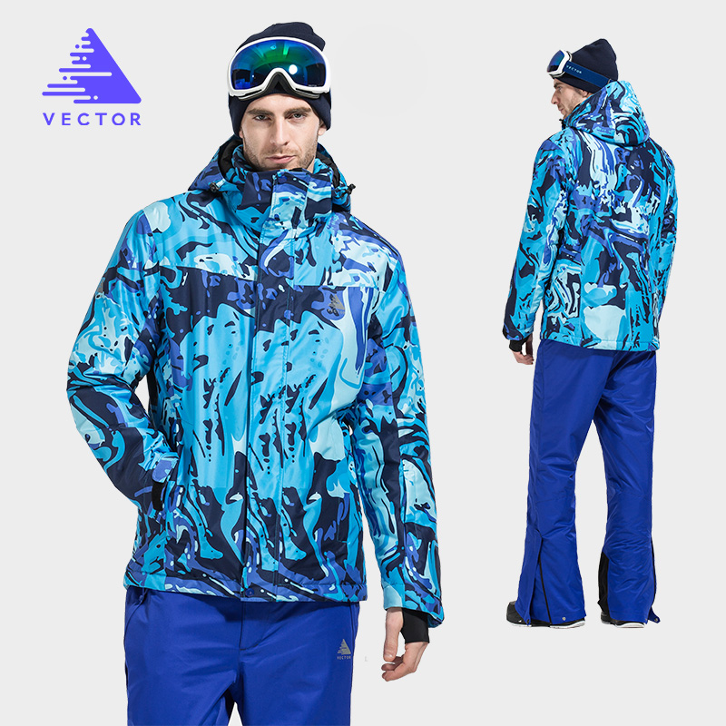 VECTOR Warm Winter Ski Suit Men Windproof Waterproof Skiing Jacket And Pants Brand Outdoor Snow Snowboard Set HXF70012