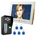 Бесплатная доставка охранных 10 дюймов TFT ЖК-дисплей монитор видео-телефон двери внутренной связи Системы с Ночное видение на открытом возду...