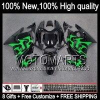 BodysGreen 19JK3 llamas Para HONDA CBR600F3 95-96 CBR600RR CBR 600F3 Verde negro CBR600 F3 CBR 600 F3 95 96 1995 1996 Carenado