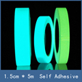 3 Color Option 1.5cm*5m Harmless Non-toxic Self-adhesive Safety Warning Luminous Tape, Glow In the Dark Safety Stage Decorations