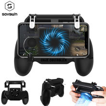 PUBG Controller Fan Cooling Gamepad PUBG Mobile Trigger Shooter Joystick 2000mA Power Bank for Phone L1R1 Fire Button for iPhone(China)