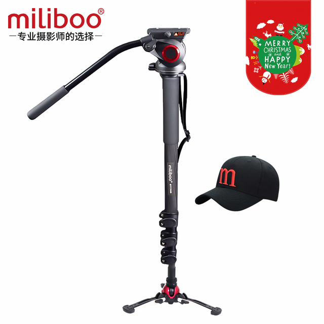 miliboo MTT704B Professional Portable Carbon Fiber Camera Camcorder Tripod for Video/DSLR Stand,Half Price of Manfrotto