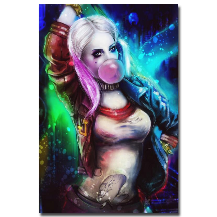 Harley Quinn Margot Robbie Suicide Squad Art Silk Poster 12x18 24x36