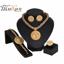 MUKUN nigerian wedding woman accessories jewelry set Brand Dubai Gold Jewelry Set Wholesale italian sets for women