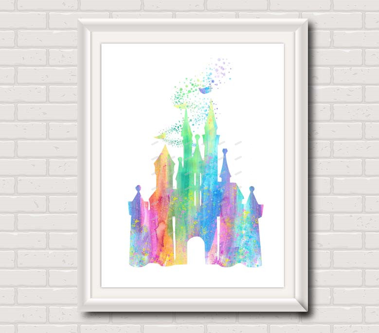 Original Watercolor Steampunk Gear Mickey poster print Pictures ...