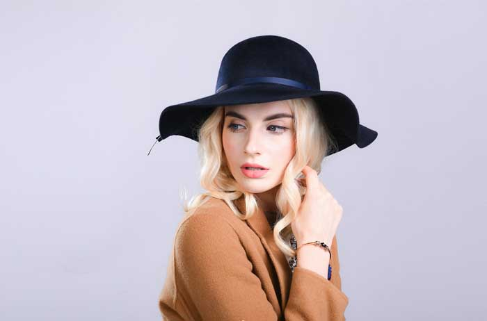 wide brim fedora hat for woman