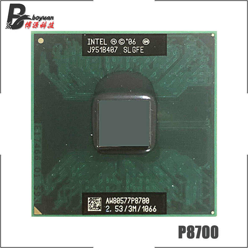 Intel Core 2 Duo Mobile P8700 SLGFE 2.5 GHz Dual-Core Dual-Thread di CPU Processore 3 M 25 W Socket P