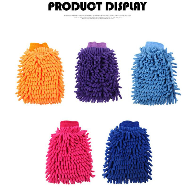 Car Wash Gloves New Easy Microfiber Car Kitchen Household Wash Washing Cleaning Glove Cleaning Tool BU-Bauty