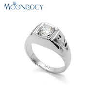 MOONROCY Free shipping Wedding Rings fashion Jewelry Wholesale Austrian Crystal Rings for men gift