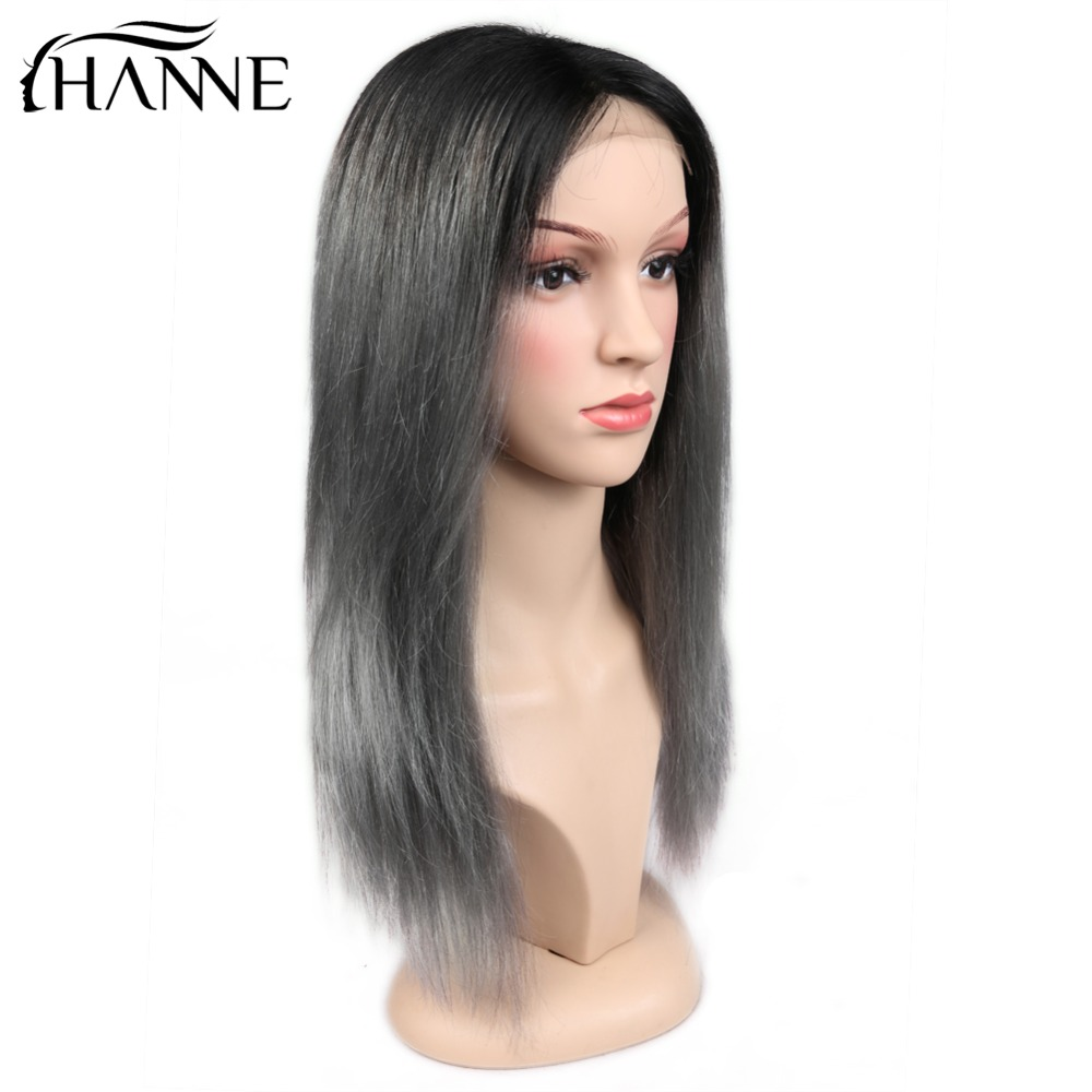 HANNE 4*4 Lace Closure Remy Hair Wig With Natural Hairline Cosplay Wig  Ombre Pink/99J/Grey Straight Human Hair Wigs Bralizian
