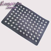 LUWELLEVER DIY Jewelry 88pcs PU Leather 12mm Metal Snap Button Display Board Watches Women One Direction