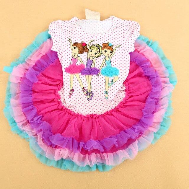 b2def589fea6a Free Shipping - retail new kids/children/ girls dance girls short sleeve  tutu dress, kids beautees tiered dress(MOQ: 1pc)