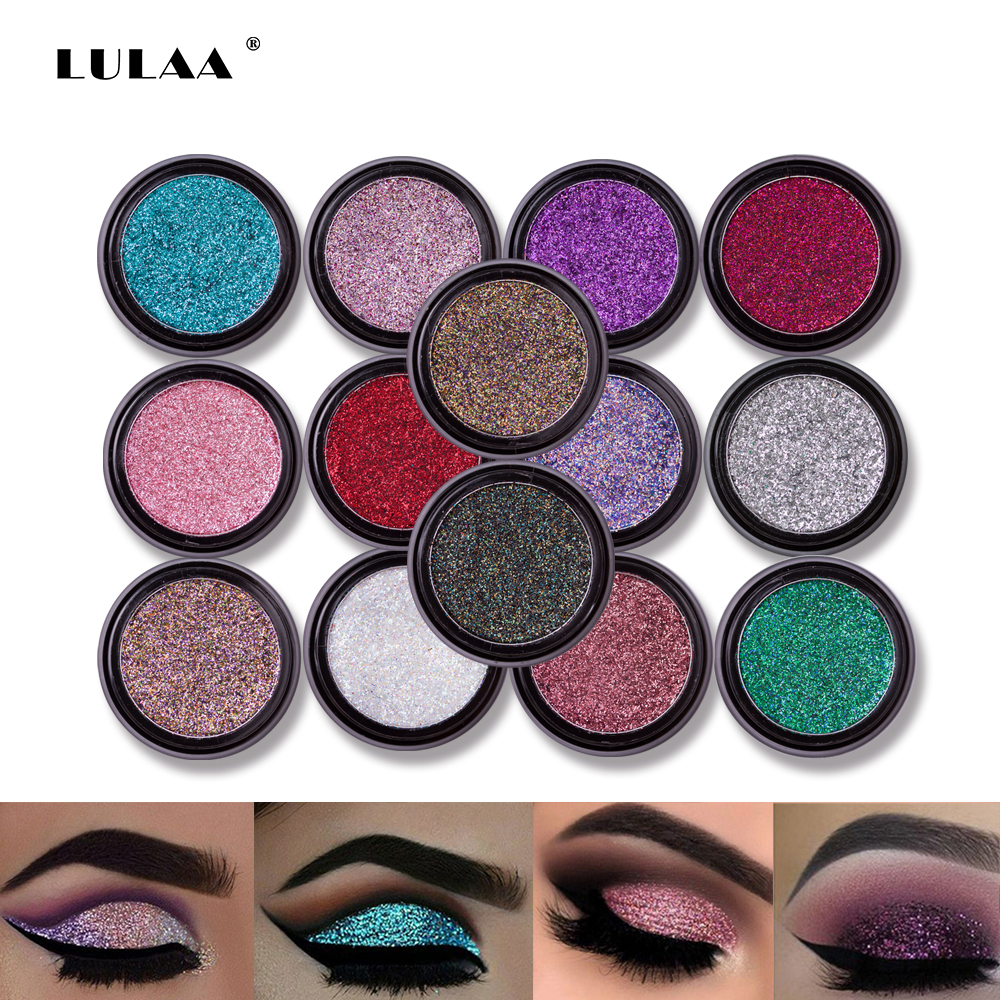 Eye Shadow Beauty Essentials Latest Collection Of Hot 14 Colors Sequins Eyeshadow Powder High Pigment Makeup Shimmer Body Glitter Eyes Make Up Lip Nail Body Powder Cosmetics