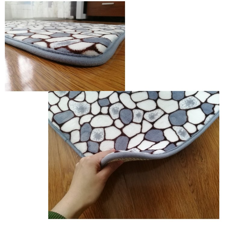 Thicken Bath Mat Bathroom Mats Carpets Set Stone Print Bathroom Floor Rug Doormat For Shower Room