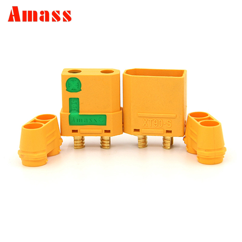 1 Pair AMASS XT90-S Male Female Connector Plug + Housing For RC Li-poly Battery RC Quadcopter Brushless Motor