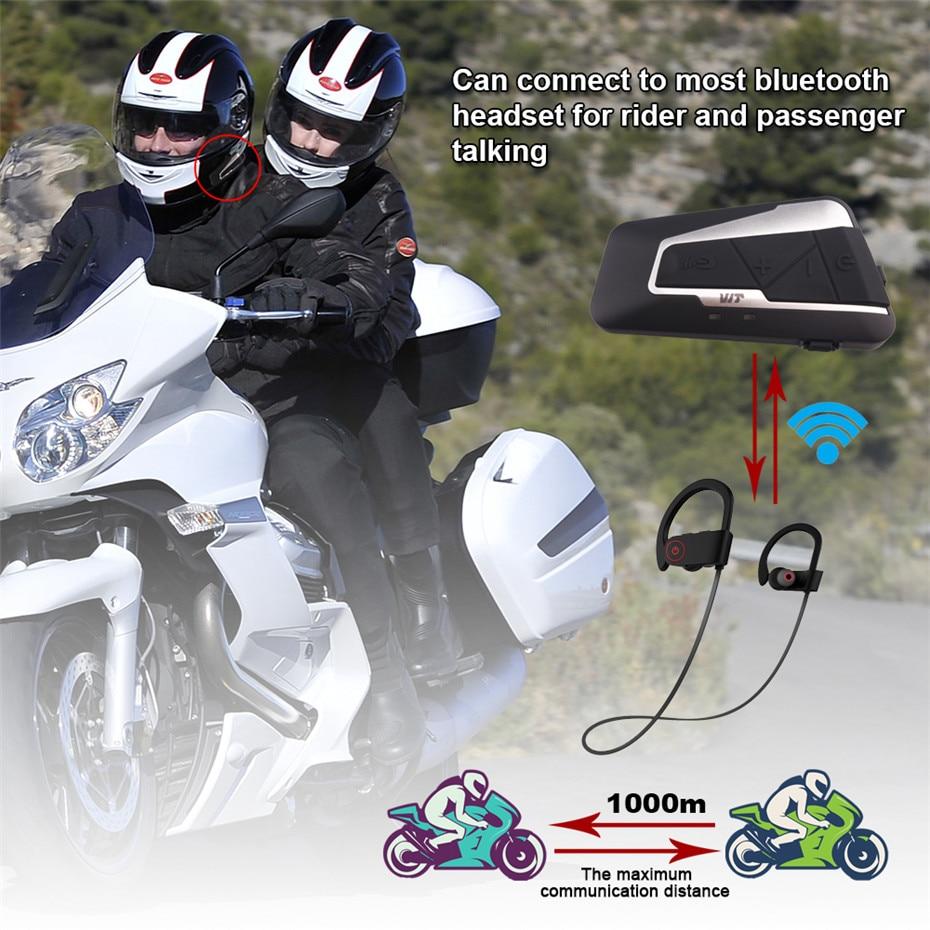 2pcs Fodsports T9S Intercom Helmet Headsets Motorcycle Bluetooth Interphone Waterproof Wireless communication with FM function
