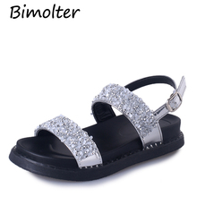 Bimolter Summer Gladiator Sandals Buckle Strap Platform Wedges Casual Shoes Women Fashion Rome Style Bling Shiny PSEA017