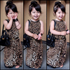 Causal Girls Dress 2017 Baby Sleeveless Leopard Printed Children Kids Party Wedding Dresses Girls Clothes 3