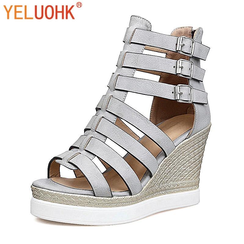 35 43 gladiator sandals women summer shoes 2017 high heels. Black Bedroom Furniture Sets. Home Design Ideas