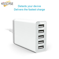 KISSCASE 40W 5V 8A USB Travel Wall Charger Adapter With US/EU/AU Plug For iPhone 6 6S 7 For Samsung Galaxy S8 S8+ S6 S7 Xiaomi