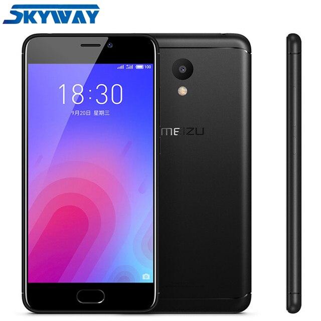 "Original Meizu M6 2GB 16GB Mobile phone 5.2"" 1280x720 Screen MTK6750 Octa Core 13MP f/2.2 Camera 3070mAh Fingerprint Android 7.0"