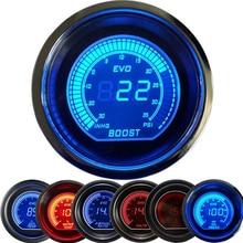 2 52mm Car Digital Turbo Boost Gauge PSI Water Temp Oil Pressure Voltmeter Tachometer rpm meter tacometro boost controller