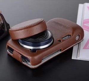 imágenes para Nueva Caja de Cuero Para Samsung Galaxy S4 Zoom sm-c101 c1010 Cubierta de La Lente con la tapa del Objetivo (2 en 1) + protector de Pantalla regalo