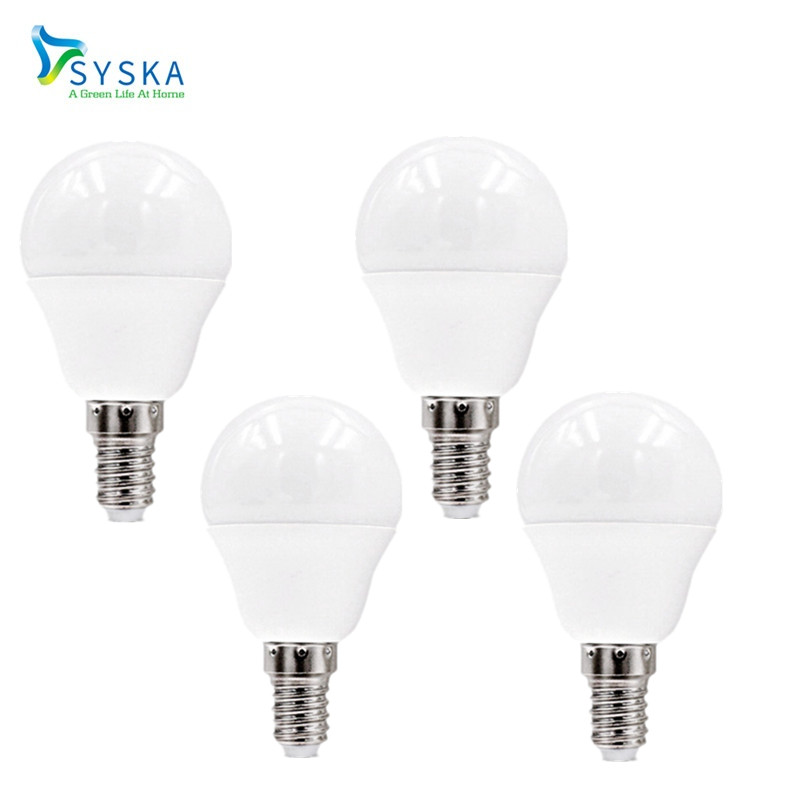 4Pcs/lot Syska E14 LED Lamp 3W 5W 7W G45 P45 Bulb 220V/110V Socket E27 Warm/Cold White LED Bulb Light/Lamp Ball Bulb 201760