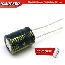 20 piezas 25V680UF 10X13 680UF 25V 0mm X 13mm, condensadores electrolíticos de aluminio DIP