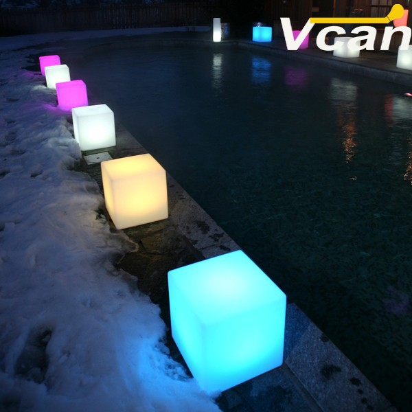 Factory Outdoor Garden Chair Seat Rgb White Colours Change LED Cube  Furniture Sale VC A400 In Holiday Lighting From Lights U0026 Lighting On  Aliexpress.com ...