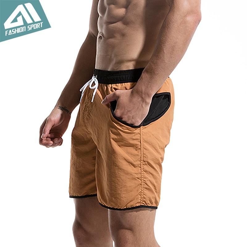 Desmiit Fast Dry Men's Board Shorts Summer Beach Surfing Man Swim Shorts Athletic Sport Running Gym Hybrid Home Shorts AM2036