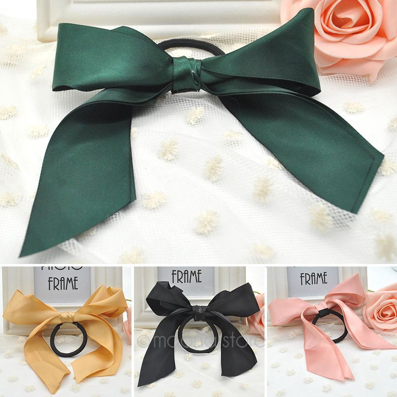 Hot Hair Tie Rope Fashion Hair Accessories Women Ribbon Bow Hair Band  Scrunchie Ponytail Holder Multi Color ZMHM030 M4-in Women s Hair  Accessories from ... 66109654ac0