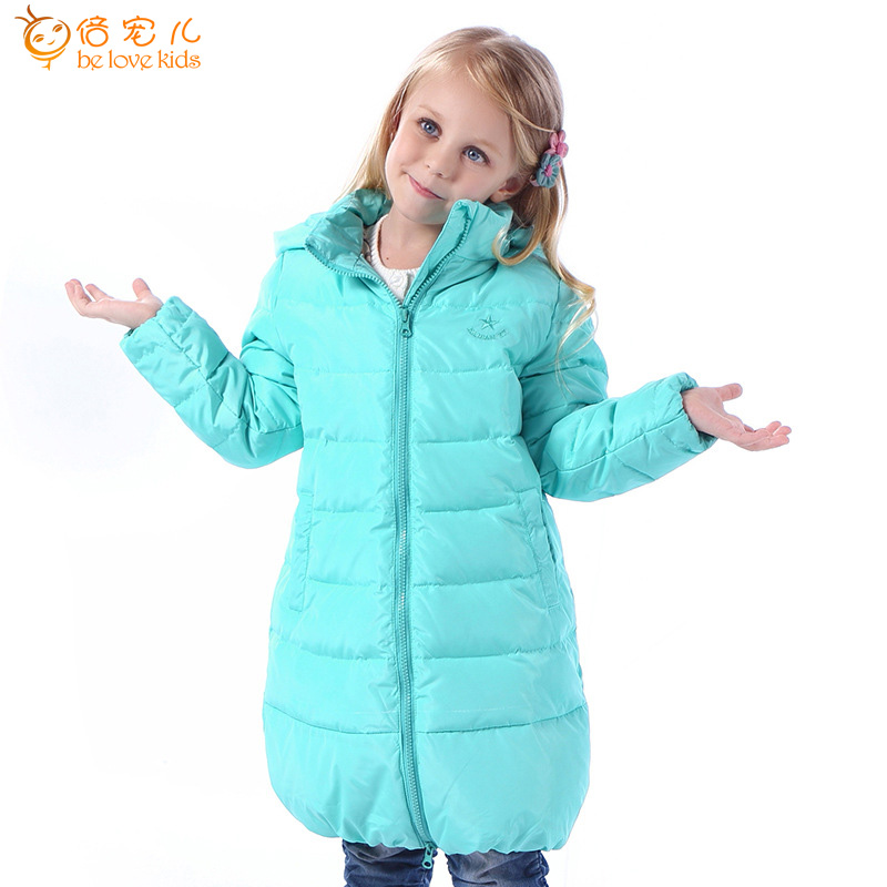 New Long Children Outerwear Fashion White Duck Down Girl Winter Coat Kids Clothes Baby Girls Jackets For 3-9 Years DQ080