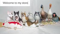 mini pvc figure Simulation Animal Model Rabbit Dog Fish Cat Parrot Animal Capsule Toy 17pcs/set