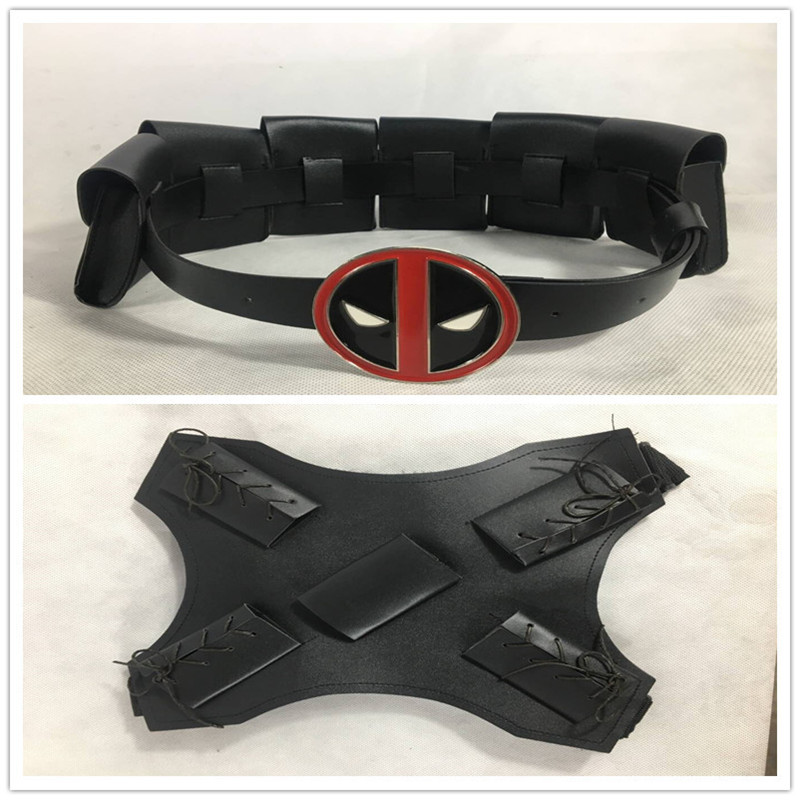 Halloween Deadpool Belt Deadpool Waist Bags Back Strap Deadpool Suit Belt Cosplay Costume Accessories Sword Holder Gun Holder