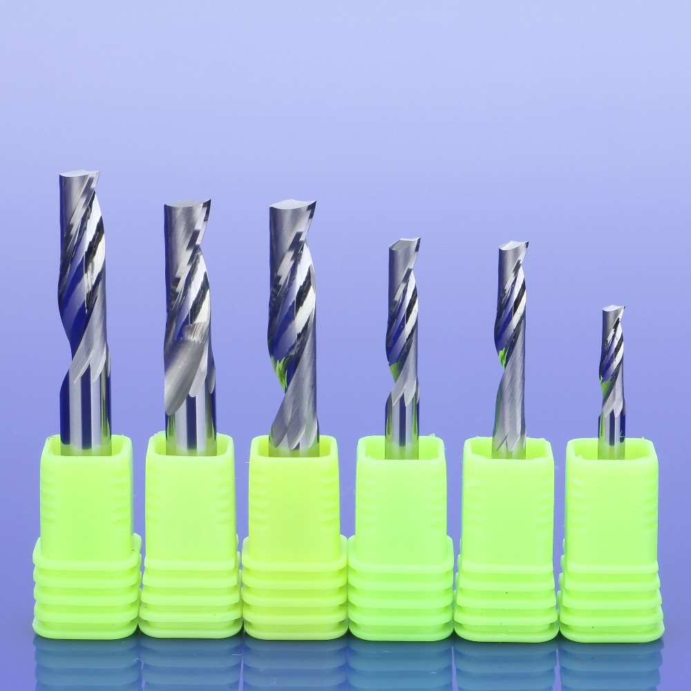 1Pcs 3.175/4/5/6/8mm Single Flute Milling Cutters For Aluminum CNC Tools Solid Carbide,aluminum Composite Panels