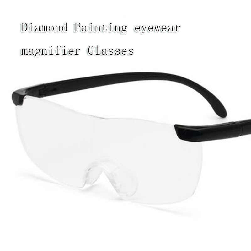 diamond painting Magnifying Presbyopic Glasses diamond embroidery Eyewear 160% Magnification Portable Gift Magnifying glasses