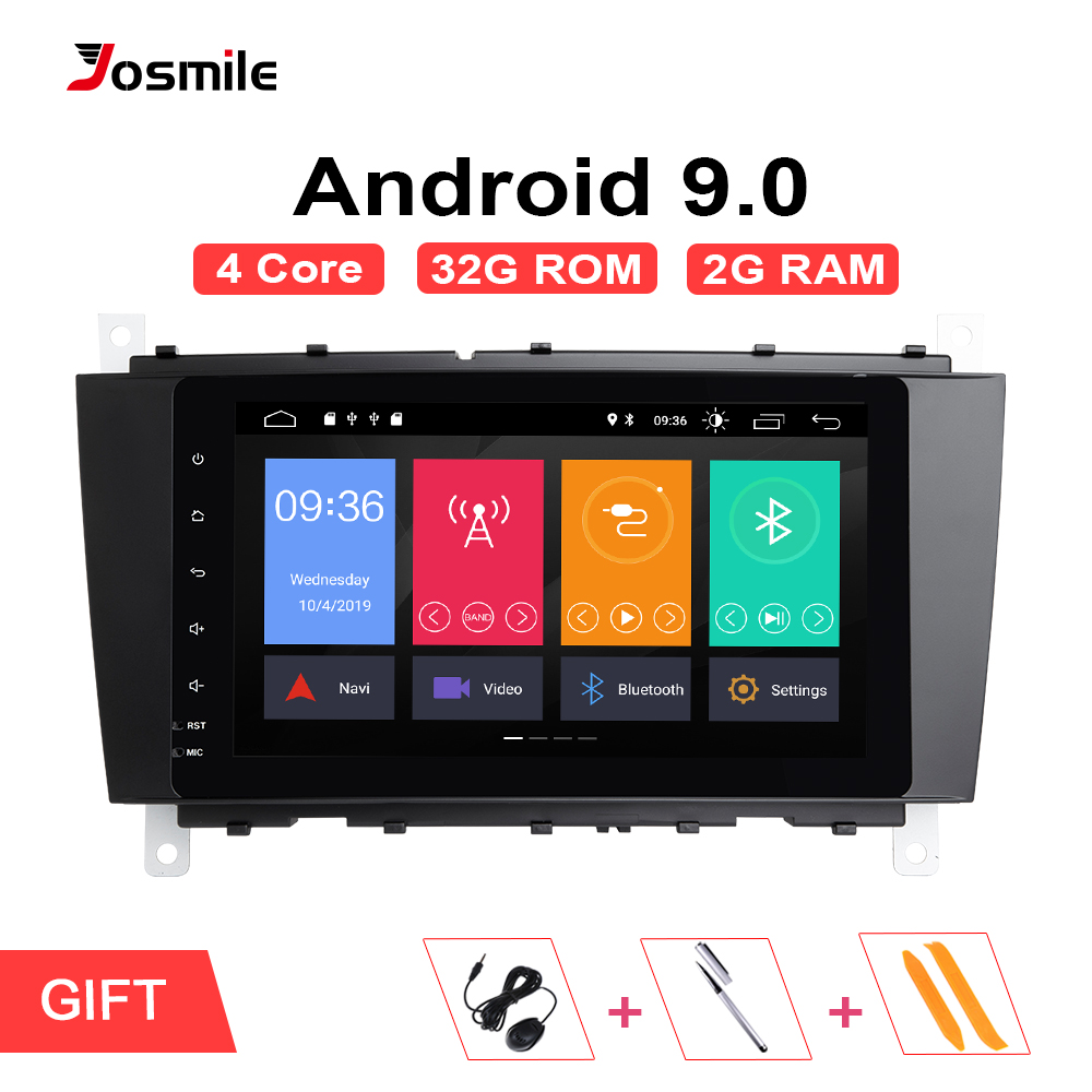 2 Din Car Radio GPS Android 9.0 Car Multimedia Player For <font><b>Mercedes</b></font> <font><b>Benz</b></font> C-Classs CLC W203 CLK W209 C200 <font><b>C230</b></font> C220 C320 C350 4G image