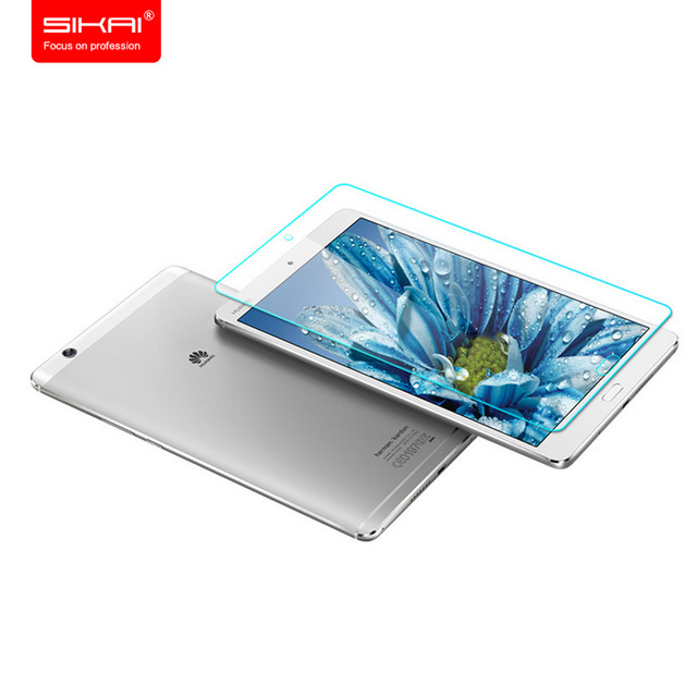 Sikai 0.3mm templado superior de cristal protector de pantalla para el protector de pantalla para huawei huawei mediapad m3 m3