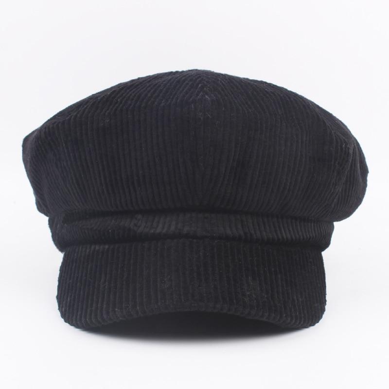 COKK Newsboy Kap Bere Kadın Sonbahar Kış Şapka Kadın Erkek - Elbise aksesuarları - Fotoğraf 3
