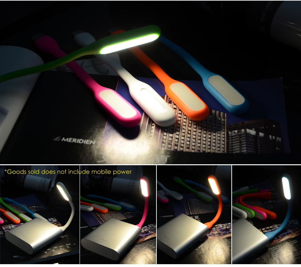 Pack of 2x Flexible USB LED Lights for Laptop Reading Camping DJ Silicone