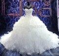 Vestido Де Noiva 2017 Бальное платье Милая Оборками Из Бисера Старинные Свадебные Платья Свадебное Платье Свадебные Платья Свадебные Платья